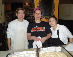 Patti Jackson (center) and her team at January's Iberian Beer & Spanish Tapas Dinner. You can read more about the dinner