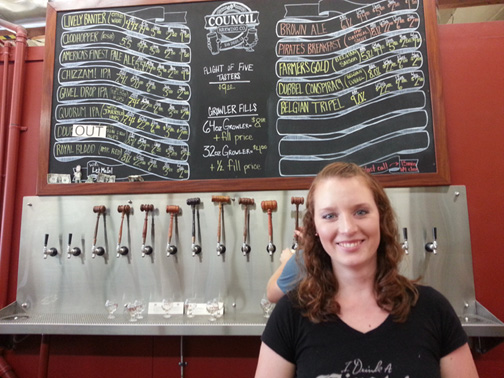 Council Brewing Co. brewmaster Liz Chism.