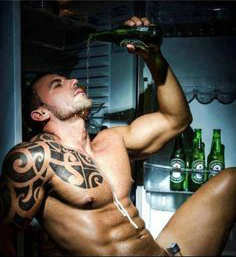 Strategically placed bottle: Yes, if you look like this, by all means drink Heineken. Or you could try a better, lower calorie beer from my list below!
